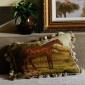 山东烟台靠垫定制绒绣精美环保羊毛抱枕舒适温暖美式手工靠垫厂家直销价格