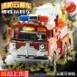 广东广州消防车玩具带音乐合金回力小车套装小孩汽车玩具厂家价格