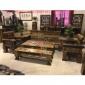 老船木沙发桌椅组合实木庭院户外茶庄厚重桌椅别墅客厅沙发沉船木