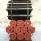 厂家直销输送带托辊三连串式托辊加厚耐磨铁托辊包胶缓冲托辊TD75型国标托辊