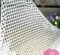 黑白镂空时尚涤纶蕾丝面料直销镂空大小圈针织面料
